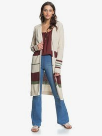 Violet Breeze - Longline Knitted Cardigan for Women  ERJSW03428
