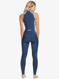 1.5mm Marine Bloom - Front Zip Long Jane Springsuit for Women  ERJW703011