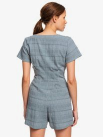 Wild And Beautiful - Short Sleeve Buttoned Playsuit for Women  ERJWD03354