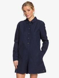 Midnight Pool - Long Sleeve Shirt Playsuit for Women  ERJWD03421