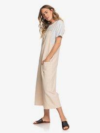 Naturally Pretty - Strappy Linen Jumpsuit for Women  ERJWD03425