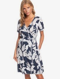 Monument View - Short Sleeve Wrap Dress  ERJWD03432