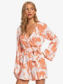 New Morning Air - Long Sleeve Wrap Playsuit for Women  ERJWD03442