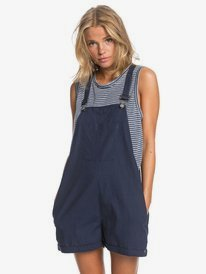 Somebody New - Linen Pinafore Playsuit for Women  ERJWD03486