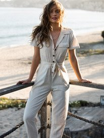 Beach Wonderland - Short Sleeve Jumpsuit for Women  ERJWD03546
