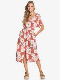 Sunny Memories - Midi Length Short Sleeve Dress for Women  ERJWD03562