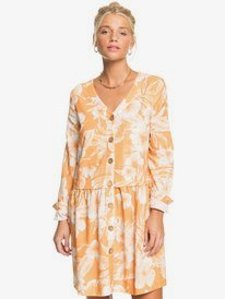 Vanity Wish Printed - Long Sleeve Mini Dress for Women  ERJWD03581