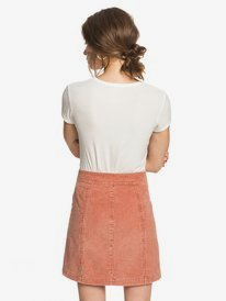 Warning Sign - Buttoned Corduroy Skirt for Women  ERJWK03090