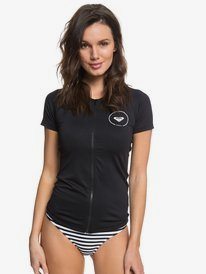 Essentials - Short Sleeve Zipped Rash Vest for Women  ERJWR03220