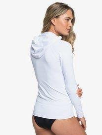 ROXY Essentials - Long Sleeve Zip-Up UPF 50 Hooded Rash Vest for Women  ERJWR03278