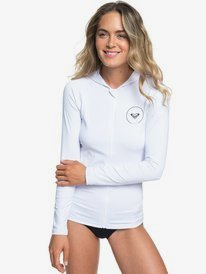 ROXY Essentials - Long Sleeve Zip-Up UPF 50 Hooded Rash Vest for Women  ERJWR03278