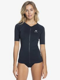 Essentials - Short Sleeve Zipped UPF 50 Rash Vest for Women  ERJWR03428