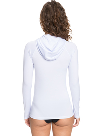ROXY Essentials - Long Sleeve Hooded UPF 50 Zipped Rash Vest for Women  ERJWR03495