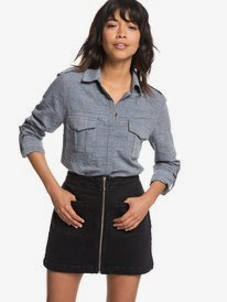 Military Influence Stripe - Long Sleeve Shirt for Women  ERJWT03247