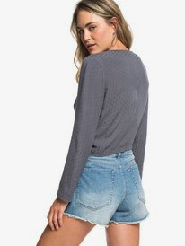 H and K To The Sea - Long Sleeve Tie-Front Blouse for Women  ERJWT03248