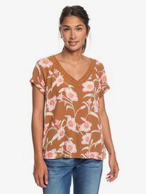 New Break Evasion - V-Neck Short Sleeve Top for Women  ERJWT03332