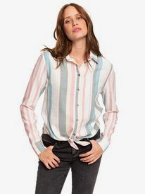 Suburb Vibes - Long Sleeve Tie-Front Shirt for Women  ERJWT03343