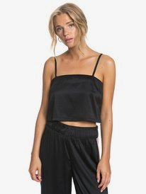 Old News - Satin Crop Top for Women  ERJWT03394