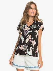 Paradise Stories - Short Sleeve Viscose Top for Women  ERJWT03467