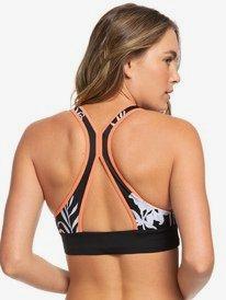 ROXY Fitness - Crop Top Bikini Top for Women  ERJX303976