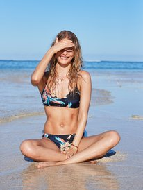 Printed Beach Classics - Fixed Triangle Bikini Top for Women  ERJX304072