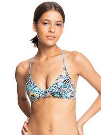 Marine Bloom - Athletic Tri Bikini Top for Women  ERJX304543