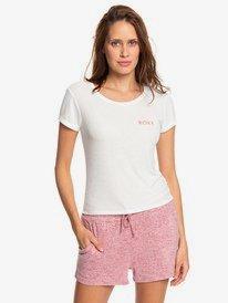 Frozen Day - Rib Knit Short Sleeve Top for Women  ERJZT04645