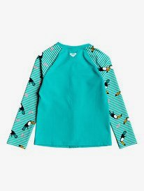 ROXY Birds - Long Sleeve UPF 50 Front Zip Rash Vest for Girls 2-7  ERLWR03125
