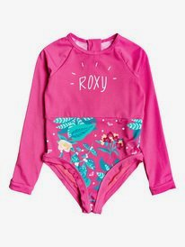 Magical Sea - Long Sleeve Zipped UPF 50 One-Piece Rashguard  ERLWR03142