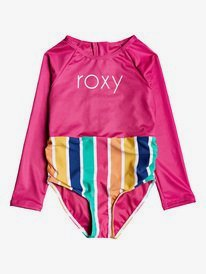 Maui Shade - Long Sleeve Zipped UPF 50 One-Piece Rashguard for Girls 2-7  ERLWR03144