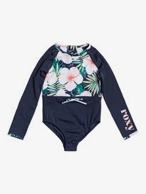 Peachy Vibes - Long Sleeve UPF 50 One-Piece Rashguard for Girls 2-7  ERLWR03153