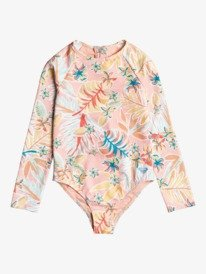 Friendly Story - Long Sleeve UPF 50 One-Piece Rashguard for Girls 2-7  ERLWR03193
