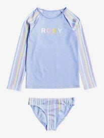 Stripy Wave - Long Sleeve UPF 50 Rash Vest Set for Girls  ERLWR03207