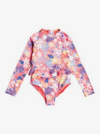 Hibiscus Party - Long Sleeve UPF 50 Rash Guard for Girls  ERLWR03208