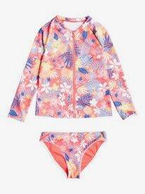 Hibiscus Party - Long Sleeve UPF 50 Rash Vest for Girls  ERLWR03209