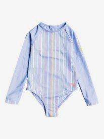 Stripy Wave - Long Sleeve UPF 50 Rash Guard for Girls  ERLWR03214