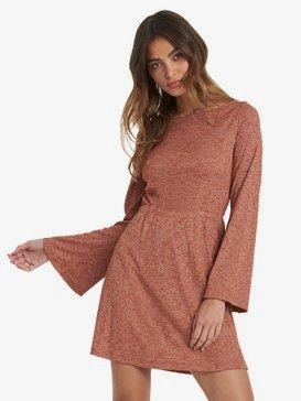 Strolling Through - Long Sleeve Rib Knit Dress for Women  ARJKD03175