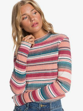 Smooth Move - Long Sleeve Rib Knit Top for Women  ARJKT03276