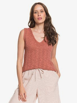 Blooming Season - Knitted Vest Top for Women  ARJSW03226