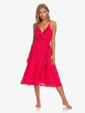 Rooftop Sunrise - Midi Strappy Dress for Women  ARJWD03268