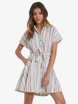 Beachward - Short Sleeve Shirt Dress for Women  ARJWD03282