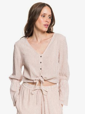 My Girl - Tie-Front Long Sleeve Blouse for Women  ARJWT03184