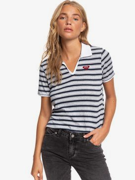 Team ROXY - Boxy Short Sleeve Polo Shirt for Women  ARJZT05452