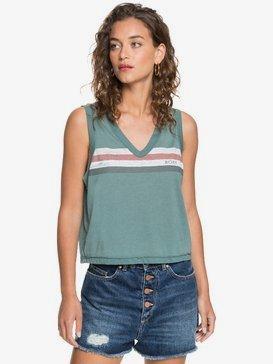 Retro Stripe High Low - Sleeveless V-Neck Top for Women  ARJZT05735