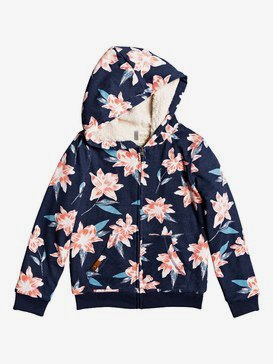 Say Love A - Zip-Up Sherpa-Lined Hoodie for Girls 4-16  ERGFT03436