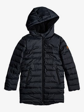 Waterfall Song - Longline Hooded Puffer Jacket for Girls 4-16  ERGJK03070