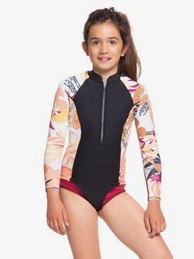 1mm POP Surf - Long Sleeve Front Zip Bikini Cut Shorty for Girls 8-16  ERGW403007