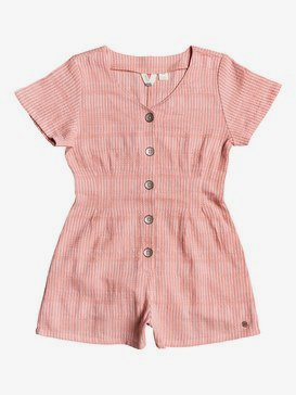 Below Horizon - Short Sleeve Buttoned Playsuit for Girls 4-16  ERGWD03085