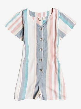 Below Horizon - Short Sleeve Buttoned Playsuit for Girls 4-16  ERGWD03099
