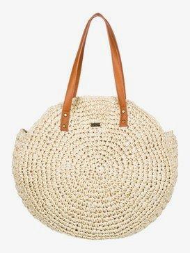 Only Good Vibes - Round Straw Beach Bag  ERJBT03181